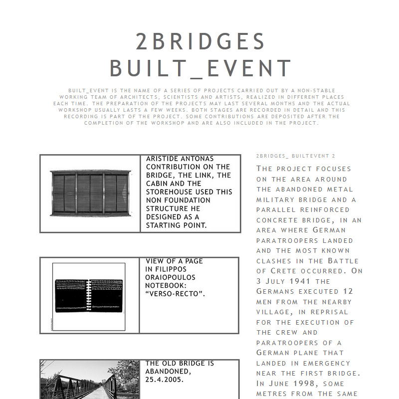 2 Bridges _ Built Event 2