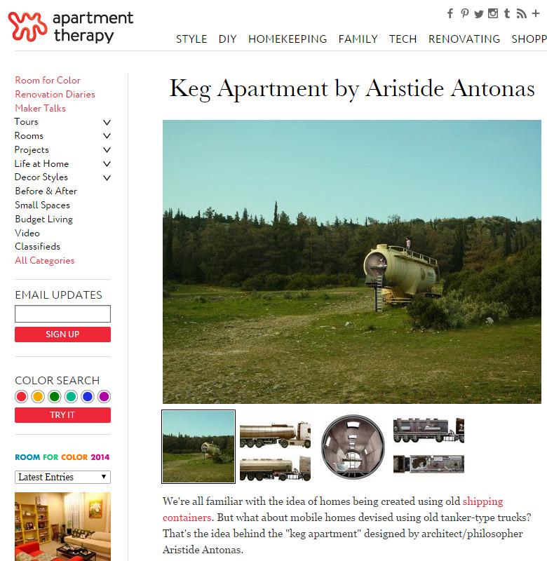 Keg Apartment by Aristide Antonas | Apartment Therapy