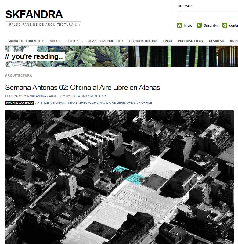 Semana Antonas 02: Oficina al Aire Libre en Atenas   SKFANDRA