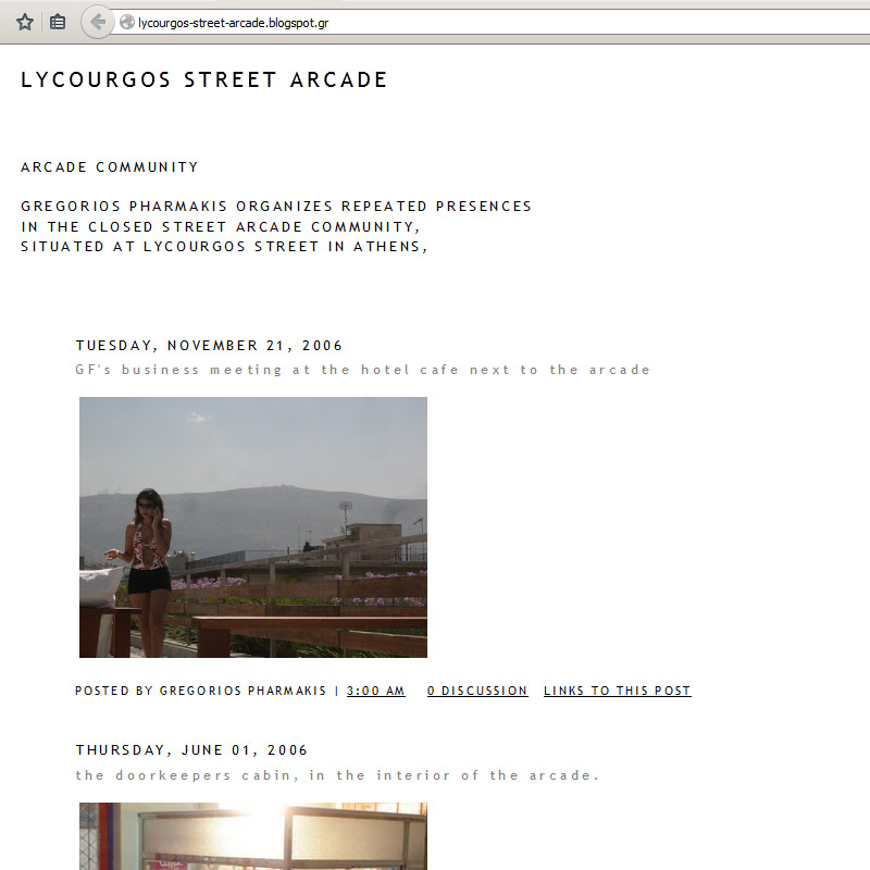 Lycourgos Street Arcade