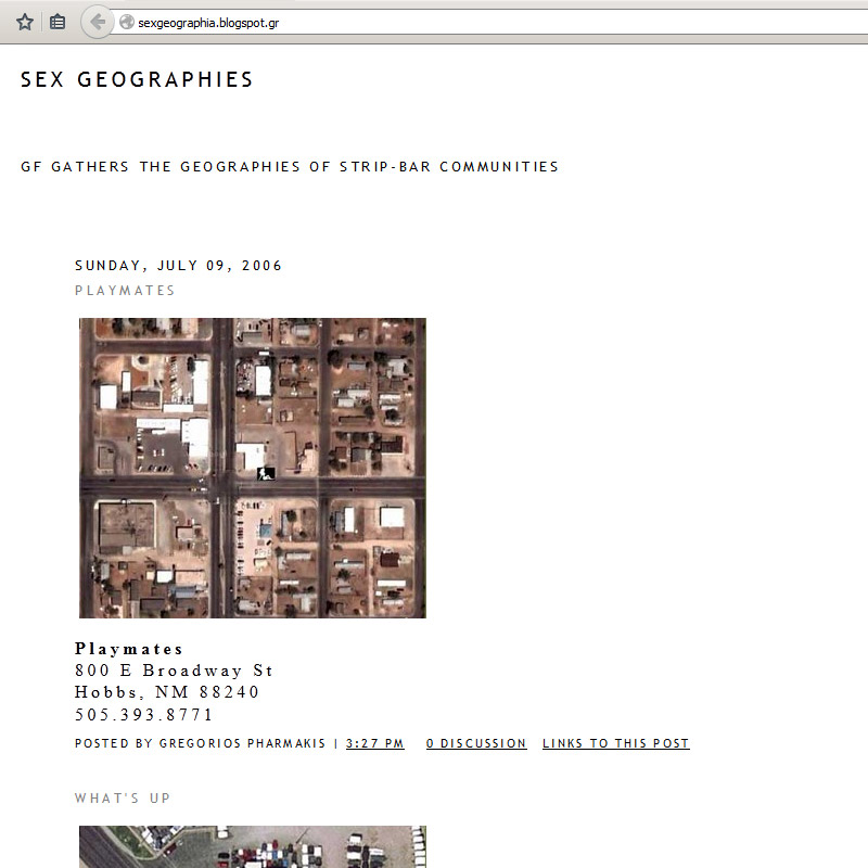 Sex Geographies