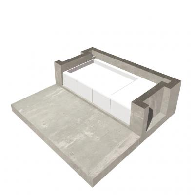 prefabricated bed