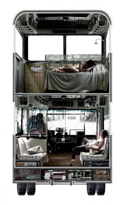 Bus Hotel interior